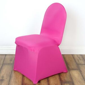 chair covers wedding ebay office high sleek spandex banquet party decoration choose image is loading