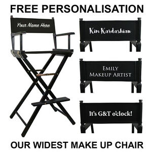 personalized makeup artist chair breakfast table and set premium tall portable folding with free image is loading