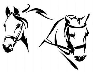 STENCILS CRAFTS TEMPLATES SCRAPBOOKING HORSE HEADS STENCIL