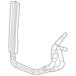 OEM GM 4.3L Power Steering Oil Hose Cooler 2007-2013