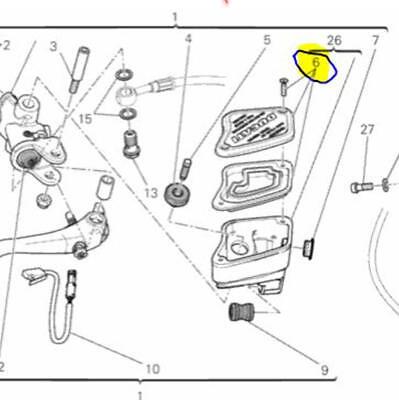 Ducati OEM Front Brake Master Cylinder Diaphragm Kit