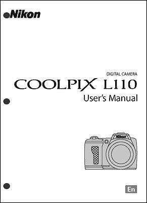 Nikon CoolPix L110 Digital Camera User Guide Instruction