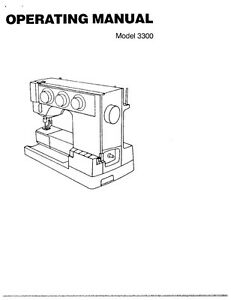 White W3300 Sewing Machine/Embroidery/Serger Owners Manual