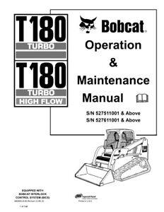 New Bobcat T180 Turbo & Highflow Operation & Maintenance