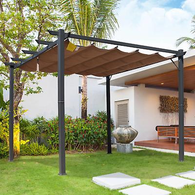metal garden pergola 3x3 waterproof roof retractable canopy outdoor patio gazebo 7427107857857 ebay