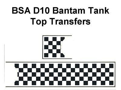 BSA Bantam D10 Sport Tank Top Transfers Decals Sold as a