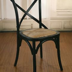 Black Cross Back Dining Chairs Chair Cover Rental Brooklyn 2 X French Provincial Birch Antique Image Is Loading