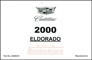 ELDORADO 2000 CADILLAC OWNERS MANUAL BOOK OWNER'S HANDBOOK