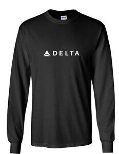 Delta Airlines T Shirt : delta, airlines, shirt, Delta, Airlines, White, Aviation, Travel, Cotton, Black, Sleeve, Shirt