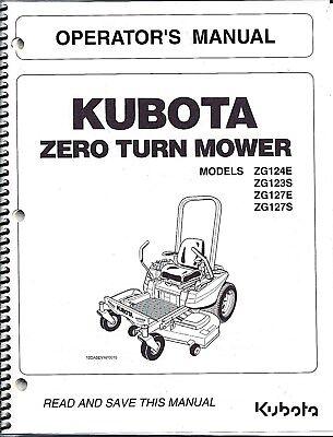 Kubota ZG124E ZG123S ZG127E ZG127S Zero-Turn Mower