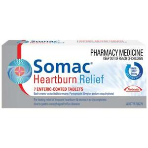 * SOMAC HEARTBURN RELIEF 7 TABLETS ENTERIC COATED ...