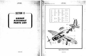 Republic P-47 Thunderbolt Parts Service manuals RARE Jug