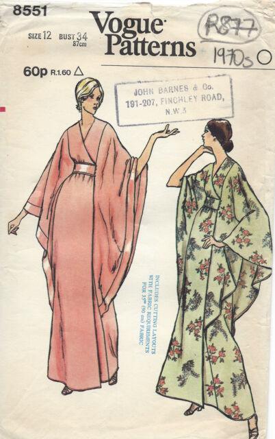 Kimono Robe Sewing Pattern Free : kimono, sewing, pattern, Vintage, Vogue, Kimono, Style, Dress, Sewing, Pattern, Online