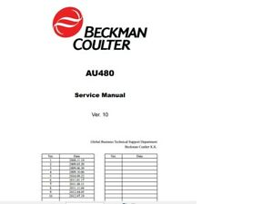 Service manual for Beckman Coulter AU480 Chemistry