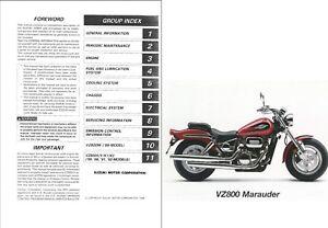 1997-2003 Suzuki VZ800 Marauder 800 Service & Parts Manual
