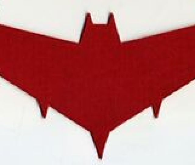 Batman Red Hood Embroidered Logo Iron On Patch Choice Of Sizes