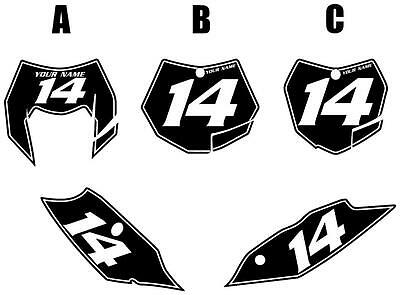 Fits KTM 350EXC-F 2012-2013 Pre-Printed Black Backgrounds