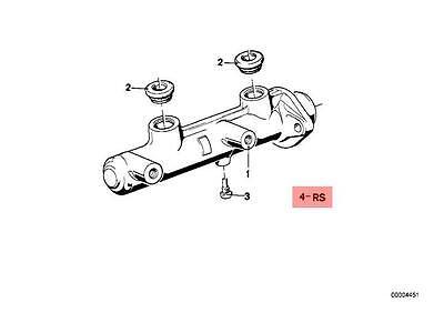 Genuine BMW 6 5 Series E24 E28 Brake Master Cylinder