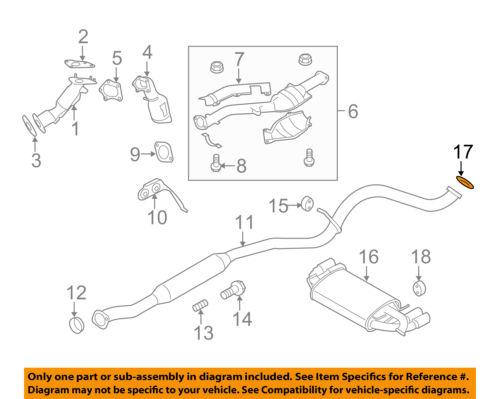 subaru oem 04 14 impreza 2 5l h4 exhaust muffler pipe gasket 44022aa131 car truck gaskets car truck exhaust gaskets