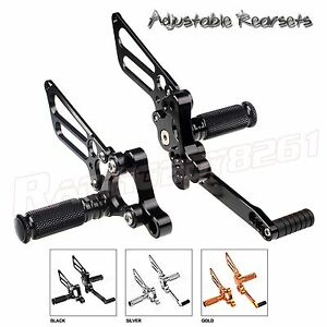 CNC Billet Adjustable Rearsets Rear Sets Foot Peg For