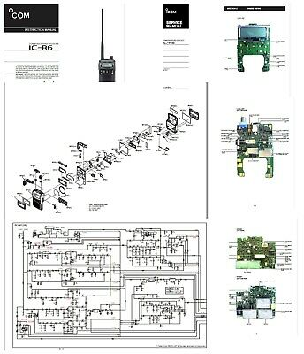 ICOM IC-R6 141 PAGE COPY INSTRUCTION MANUAL + SERVICE
