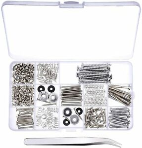 Canomo 254 Pieces Electric Guitar Screw Kit (9 Types) with