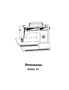 White W811 Sewing Machine/Embroidery/Serger Owners Manual