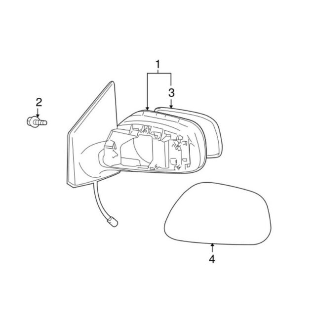 Genuine OEM White Driver Left Outer Mirror Cover for