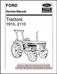 FORD 1910 2110 COMPACT TRACTORS SERVICE REPAIR SHOP