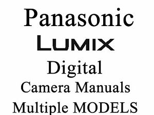 Panasonic Lumix DMC Camera User Guide Instruction Manual