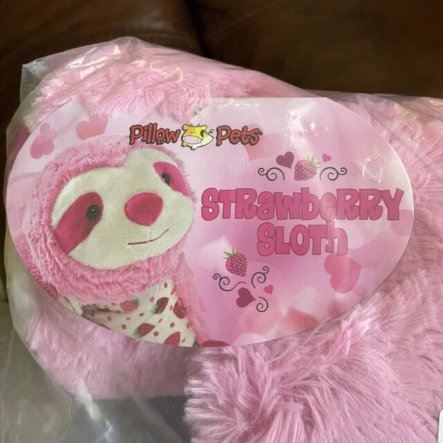 official pillow pets strawberry milkshake cow sweet scented pet 18in