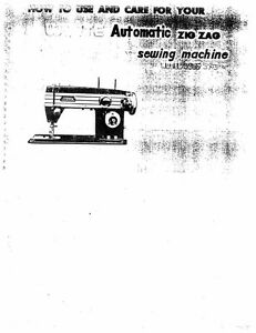 White W3955 Sewing Machine/Embroidery/Serger Owners Manual