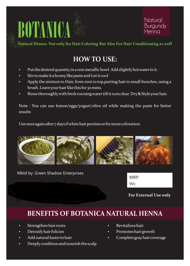 Burgundy Hair Rinse : burgundy, rinse, Botanica, Natural, Organic, Henna, Color, Powder, Burgundy