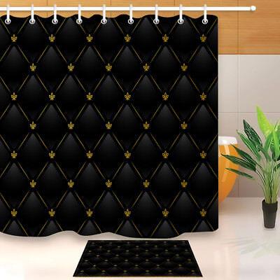 black gold leather pattern shower curtain liner waterproof fabric 12 hooks ebay