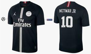 details zu trikot nike paris saint germain 2018 2019 third black ucl neymar i psg jordan
