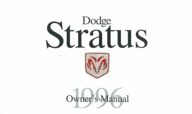 1996 Dodge Stratus Owners Manual User Guide Reference