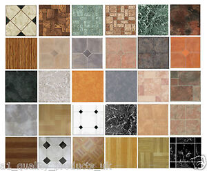 kitchen vinyl floor tiles cherry cabinets 4 x self adhesive bathroom lino image is loading