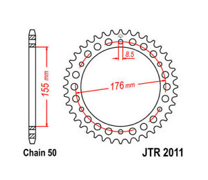 JT Steel Rear Sprocket 530 42T Triumph Daytona/Speed