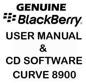 Original Genuine Blackberry Curve 8900 User Manual & CD