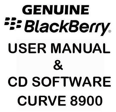 Original Genuine Blackberry Curve 8900 User Manual & CD