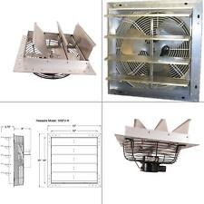 600 cfm power shutter mounted variable speed exhaust fan vent automatic 10 in