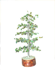 Bonsai Tree Good Luck : bonsai, Green, Aventurine, Money, Bonsai, Silver, Gemstone