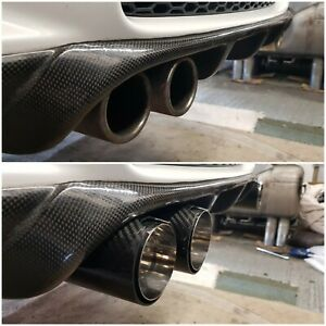 details zu bmw e92 93 m3 gloss carbon mpe style extended diffuser exhaust tips