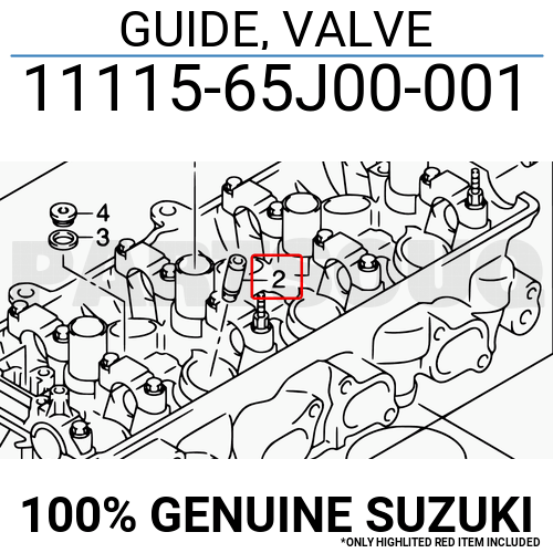 1111565J00001 Genuine Suzuki GUIDE, VALVE 11115-65J00-001