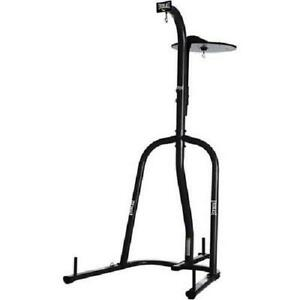 Heavy Bag Stand Dual Station Black Powder Coated Steel