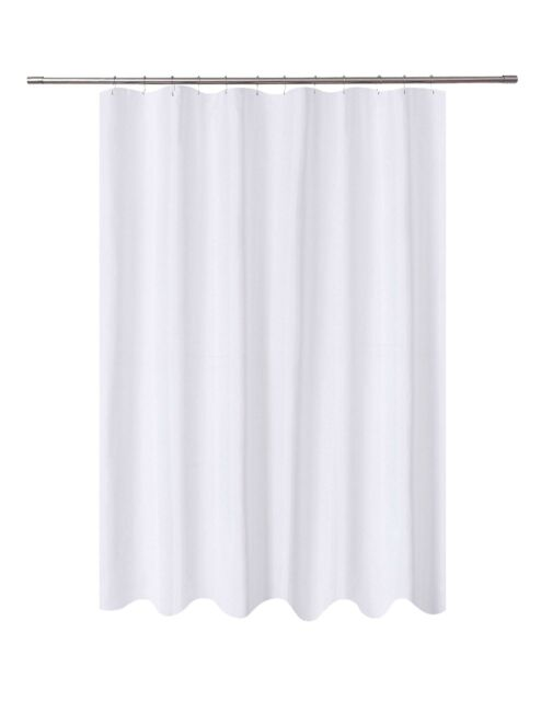 n y home fabric shower curtain liner white extra long 72 x 84 inch hotel mildew