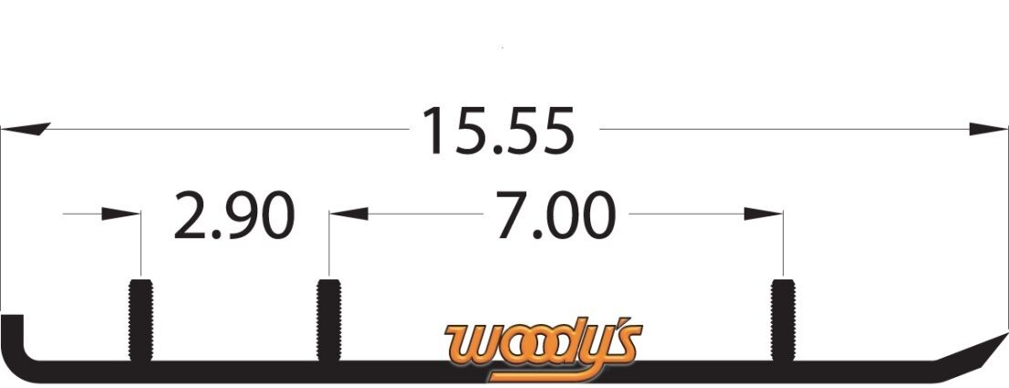 WOODYS POLARIS WEAR BARS RODS RUNNERS EDGE 340 550 TOURING