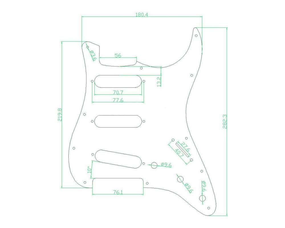 Guitar Pickguard with Pickup Covers Knobs Back Plate