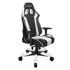 How Much Does A Gaming Chair Weight Wicker Peacock For Sale Dxracer Oh Ks06 Nw Black White King Series Cushions Image Is Loading Amp
