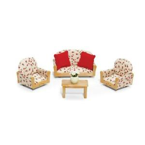 kids living room furniture mid century modern ideas calico critter animal play set toy sofa image is loading